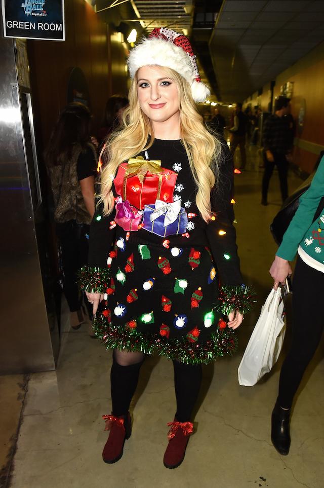 1027 kiis fms jingle ball backstage - Ugly Christmas Sweater Diy